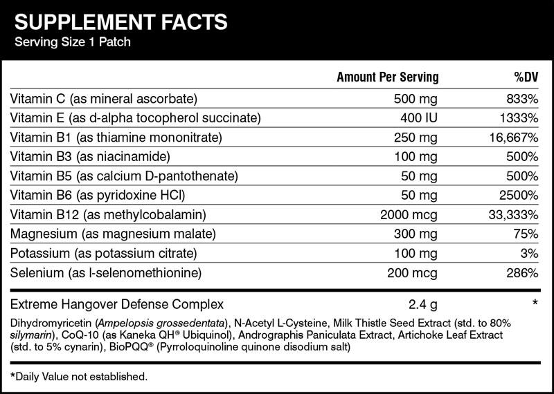 hangover defense ingredients